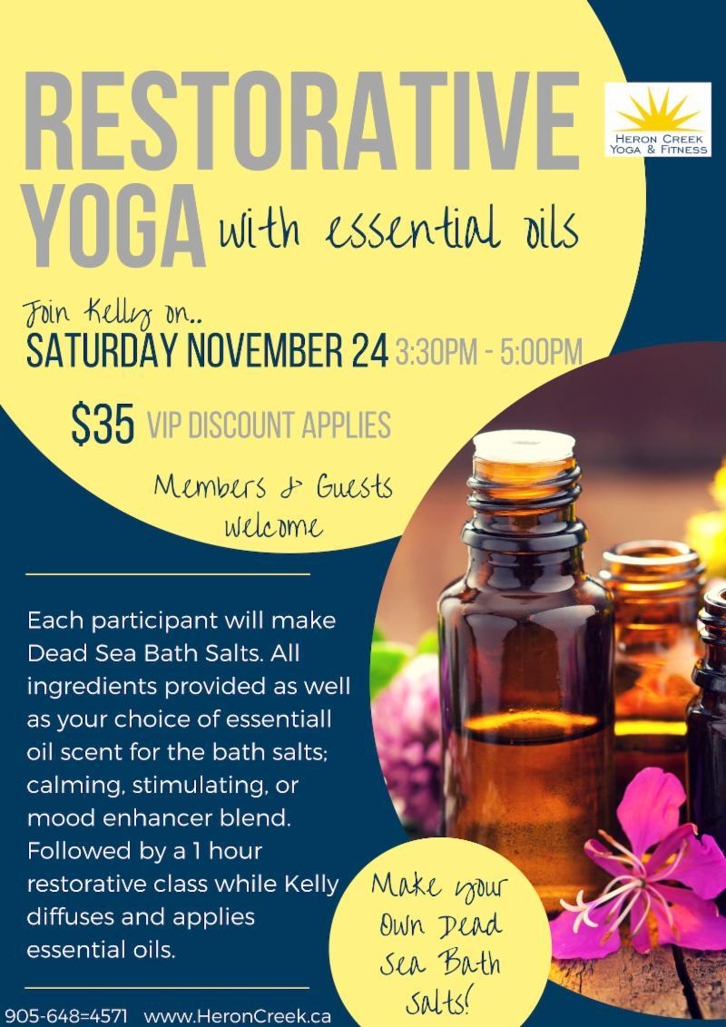 restorative yoga with oils workshop