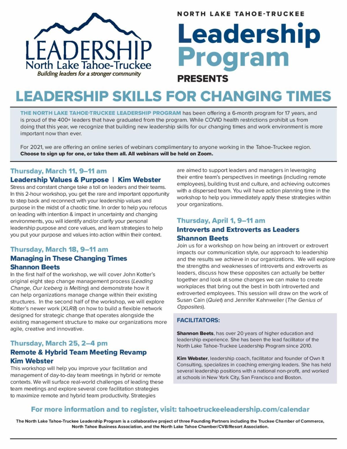 Leadership Skills for Changing Times