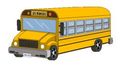 Анимация картинки автобус едет