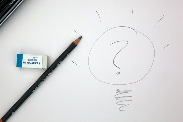 pencil drawing question mark