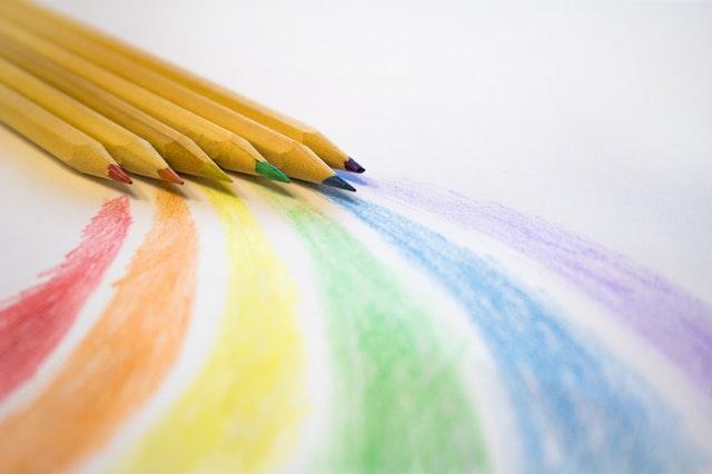 pencils rainbow colours