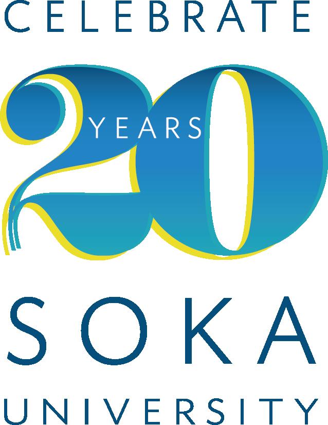 Celebrate Soka University 20 Years Logo