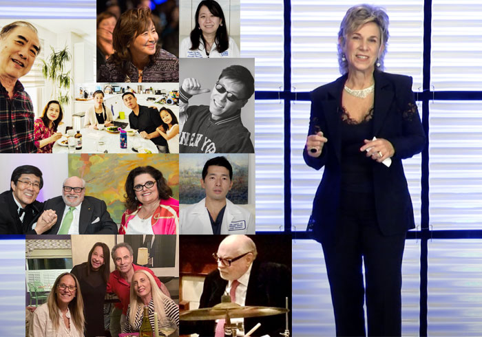 Photo collage of this year's virtual  gala and memories of previous galas