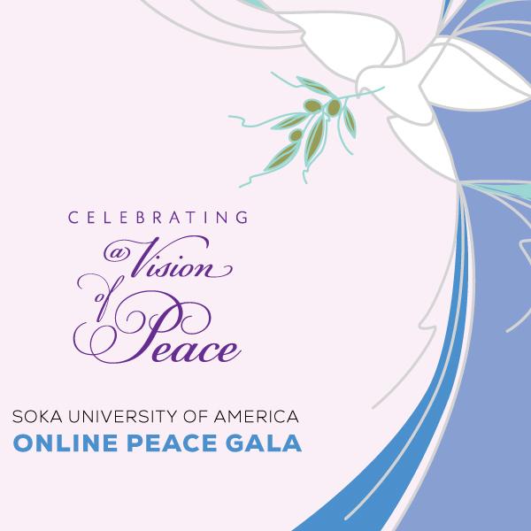Peace Gala invitation cover