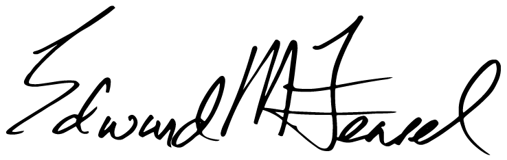 President Edward M. Feasel's signature