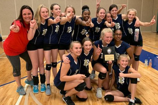 girls volleyball champs 2019