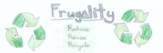 Frugality Bookmark