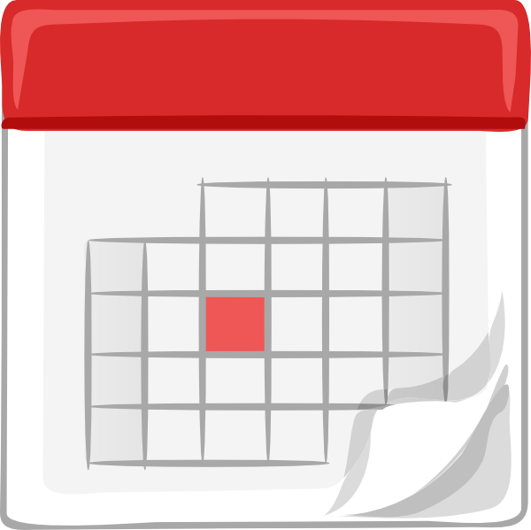 Red School Calendar