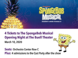 Sponge Bob tickets