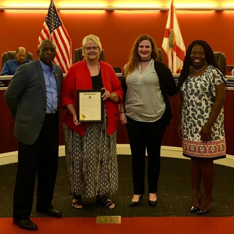 Mayor Morris West, Ms. Dee Zerfas, Ms. Taylor Freeman and Ms. Tonya Akwetey