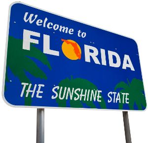 Clip Art of State of Florida Welcome Sign