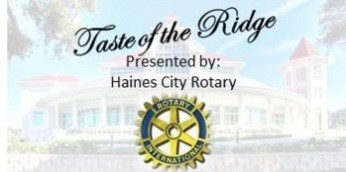 Taste of the Ridge Presented by: Haines City Rotary (with Rotary logo)