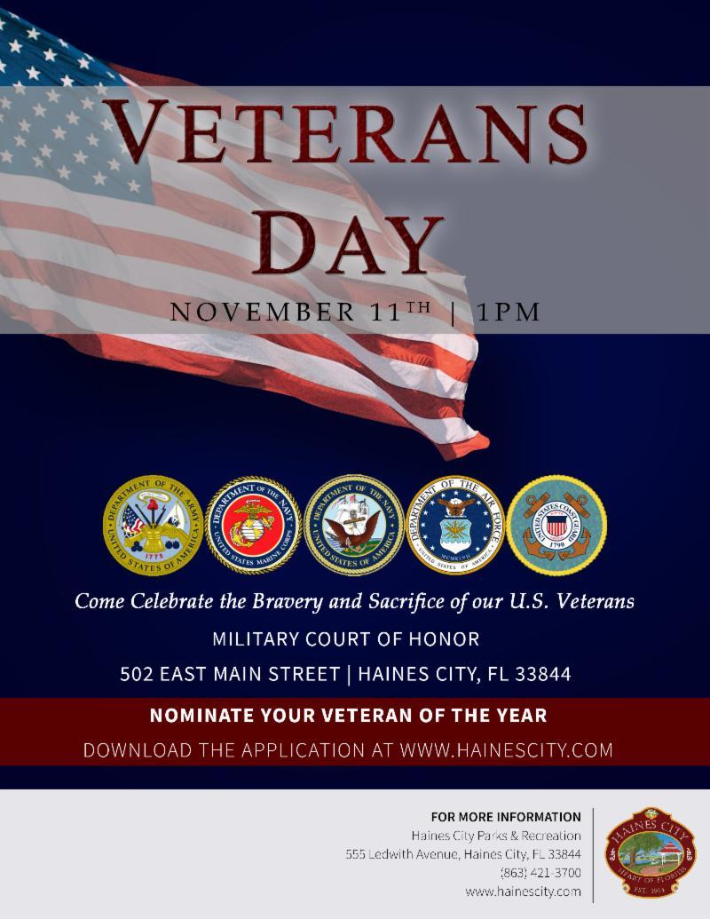 Flyer for Veterans Day 2018