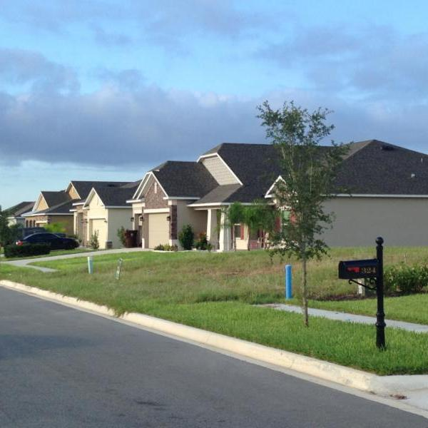 Picture of newly constructed houses