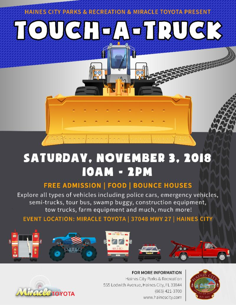 Flyer for Touch A Truck Event