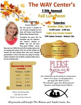 Flyer for the Way Center 13th Annual Fall Luncheon