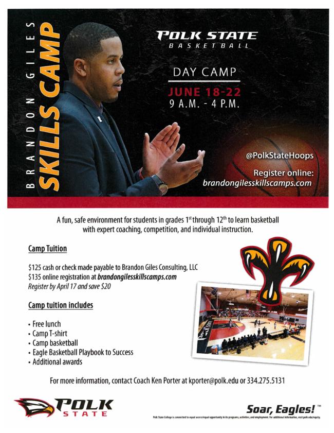 Polk State College Basketball program flyer