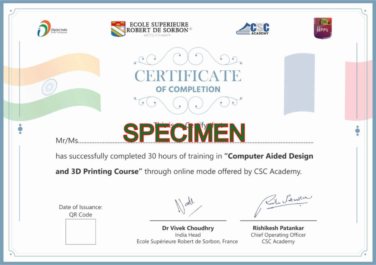 Certificate Specimen