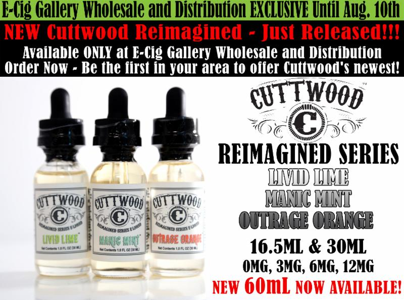 Available at E-Cig Gallery Wholesale and Distribution