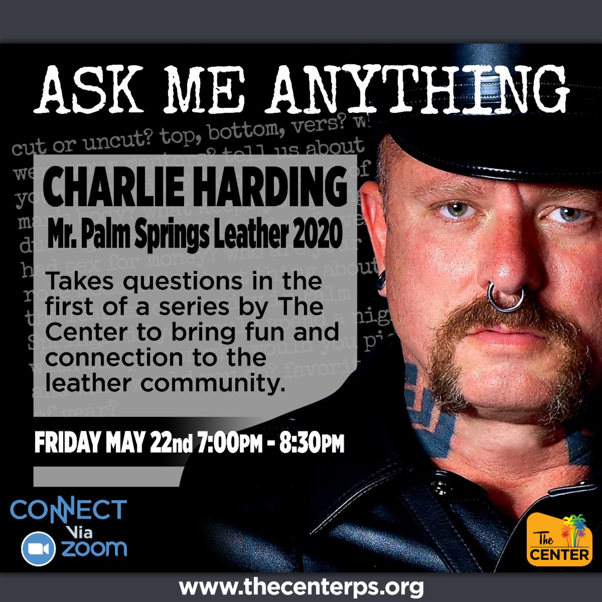 Ask me Anything with Mr Palm Springs Leather 2020 - Friday May 22 7PM