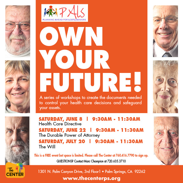 Own Your Future: LGBT Seniors Workshops at The Center in Palm Springs