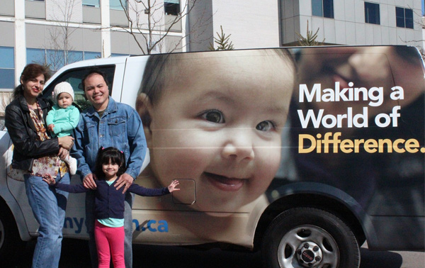 Sophie is featured on the NYGH van.