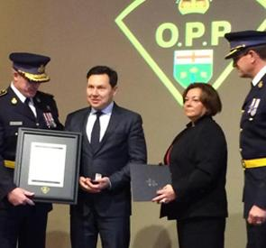 To honour his life-saving efforts, Dr. Thomas Ungar, Chief of Psychiatry and Medical Director, Mental Health Program at NYGH, received a citation from the Ontario Provincial Police in 2015.