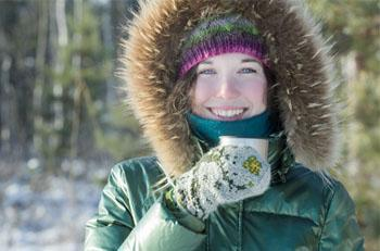 When temperatures drop to -27 degrees Celsius, the risk for frostbite increases.