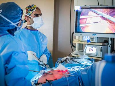 Dr. Usmaan Hameed performs the first surgery recorded with the OR Black Box at NYGH.