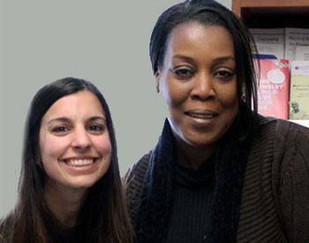 Centre for Complex Diabetes Care Social Worker Nicole Pacheco and patient Sharon Doloras