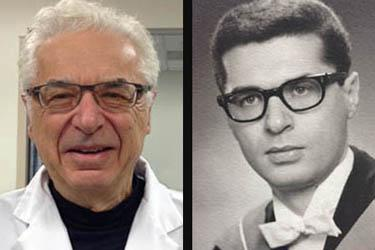 NYGH Cardiologist Dr. Emory Burke in a 2017 photo and as a graduate of the University of Toronto Faculty of Medicine in 1966
