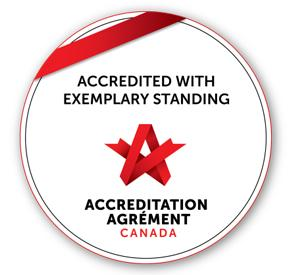 North York General Hospital has received the distinction of being Accredited with Exemplary Standing, the highest designation given by Accreditation Canada.