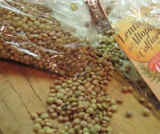 Lentils on board Umbrian