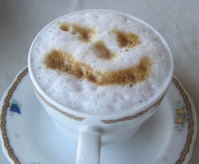 Cappucino smiley face