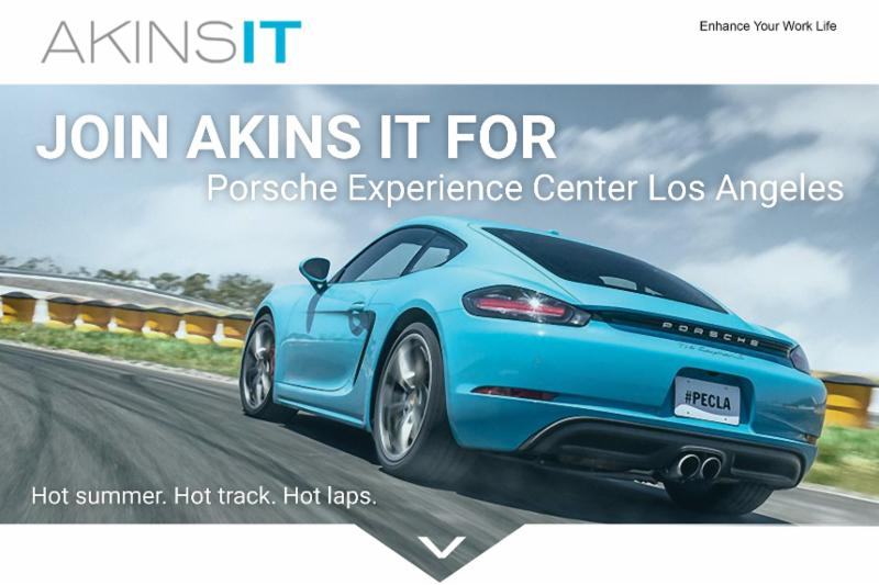 Akins IT Porsche Experience day