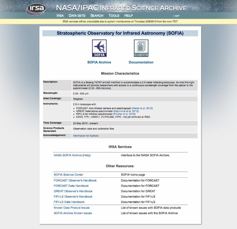 IRSA page screenshot