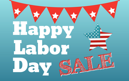 Happy labor day card United States of America. Celebrate labor day USA sale banner.