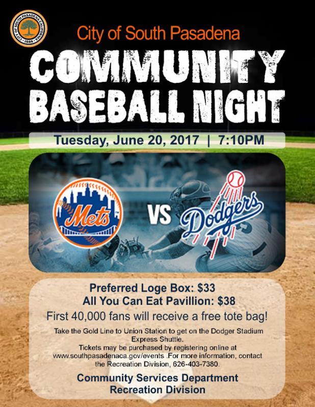 community baseball night 2017