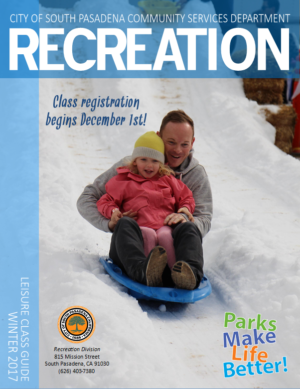 Recreation community class guide Winter 2017