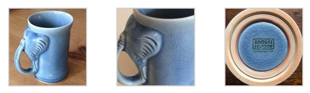 Celadon elephant mugs make a great gift