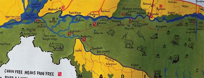 EAI corral locations Chitwan