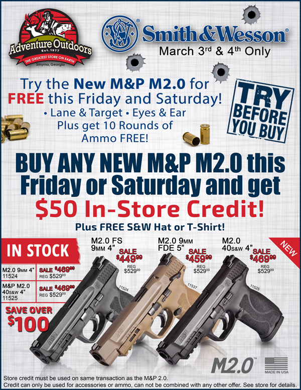 SCCY Days and M&P M2 0 Tryouts: Get FREE Range time with the