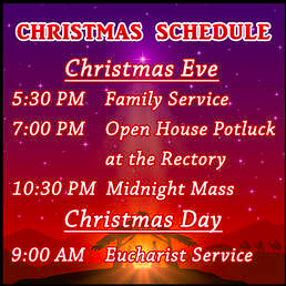 Christmas schedule 2019