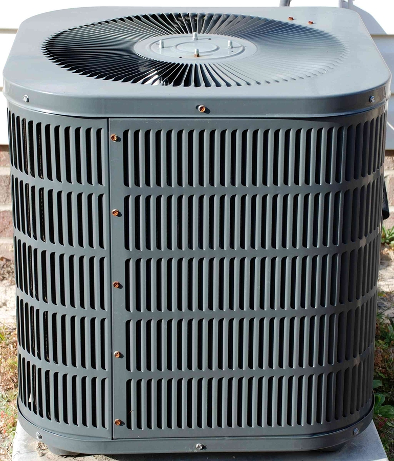 green outdoor air conditioner for summer cooling