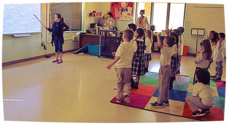Emma as music teacher