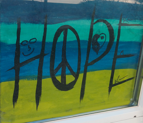 Hope painting created by Preble St. client.