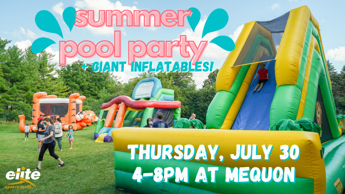 Summer Pool Party - Giant Inflatables - Elite Mequon July 30