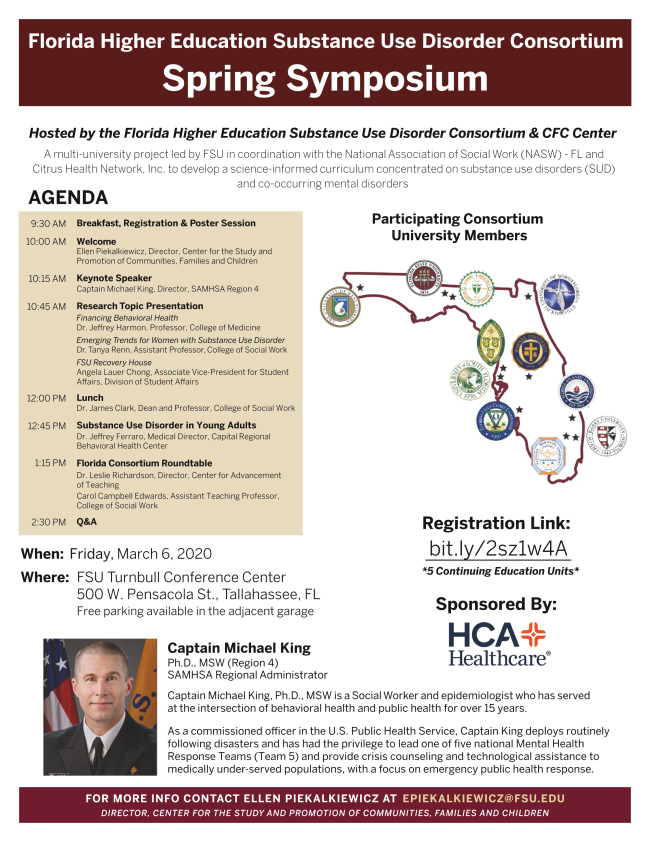 March 6 - Florida Higher Education Substance Use Disorder Consortium
