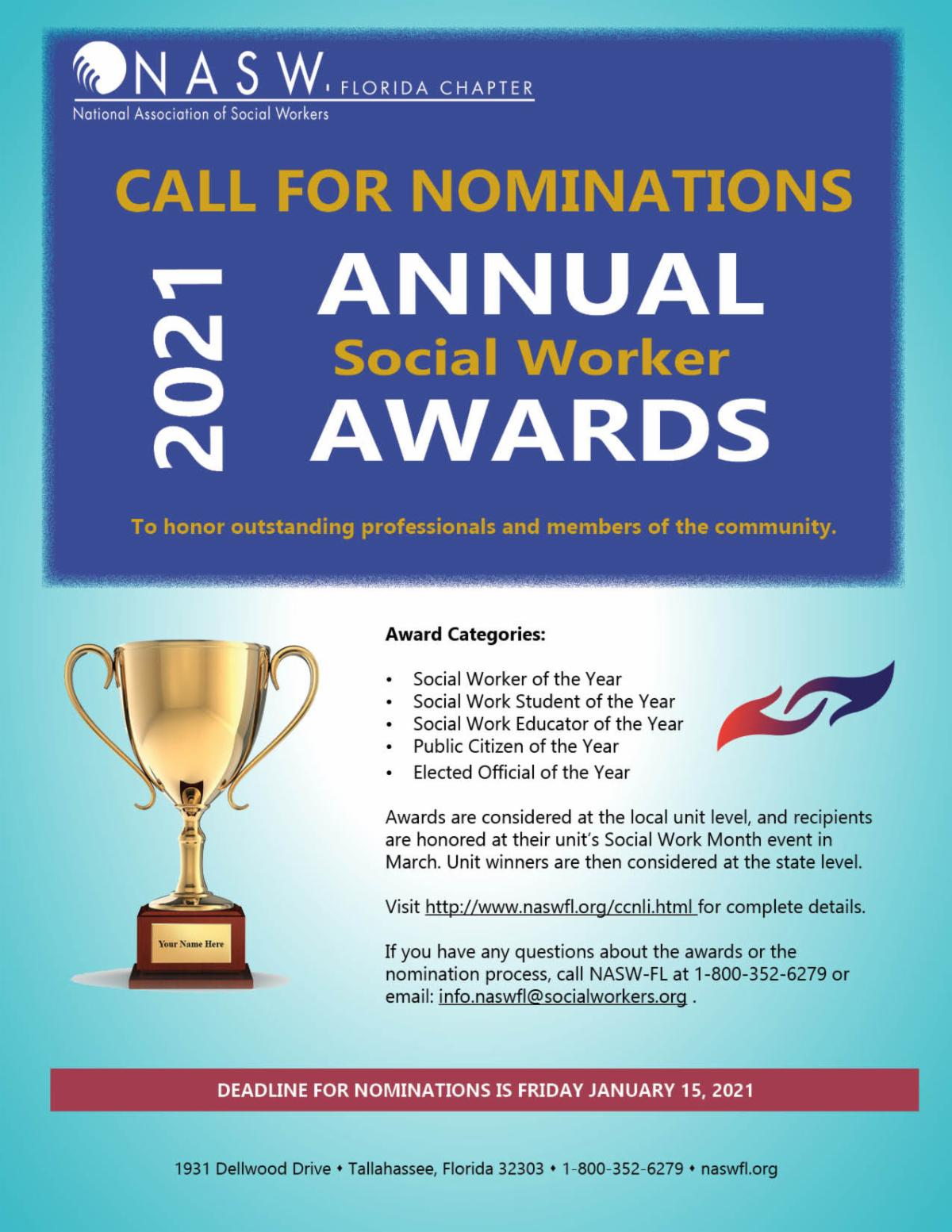 Annual Social Work Awards Nominations Open