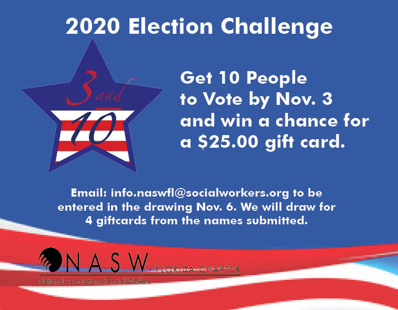 Election Challenge - Get 10 People to Vote and win a _25 gift card